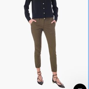 Veronica Beard Field Cargo Pants Army Green 8